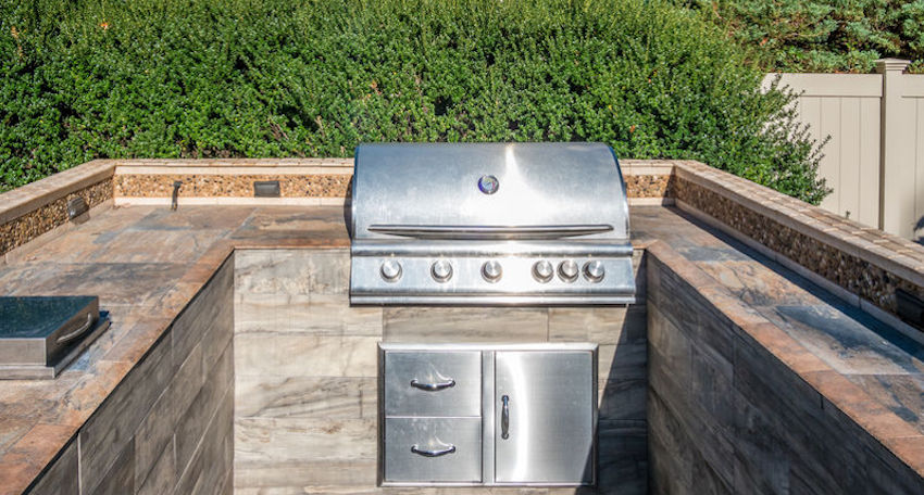 building an outdoor kitchen on a deck